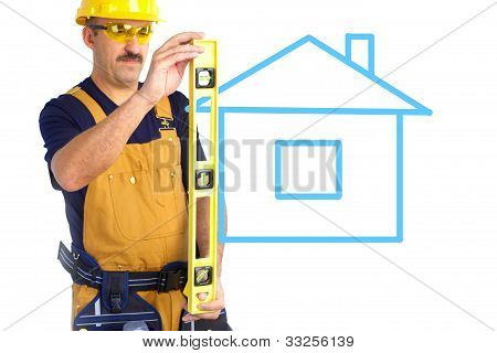 Mature Contractor And House
