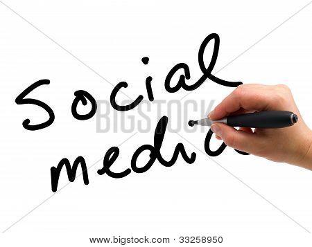 Social-Media-handgeschrieben