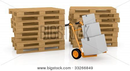 Handtruck Or Trolley