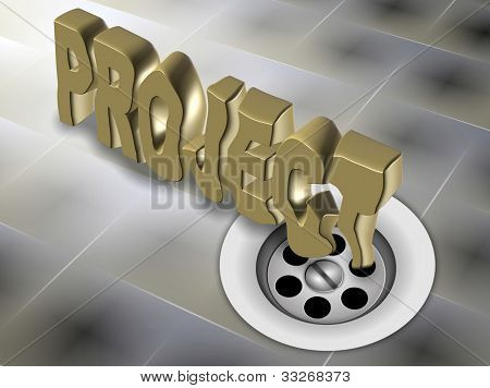 Failed Project Down The Drain