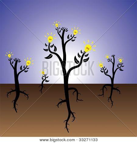 Concept Of Idea Plants Growing In Fertile Mind
