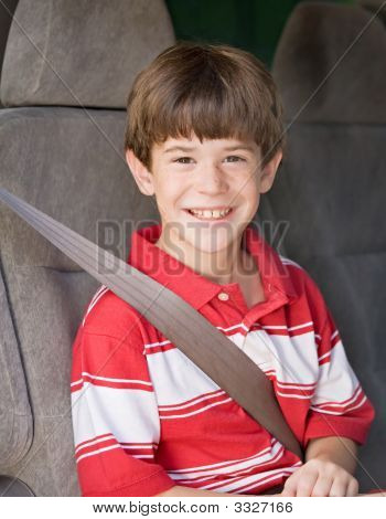 Boy Riding In Van