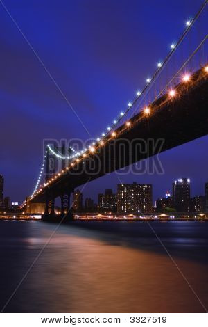 Blue Sky New York Manhattan Bridge