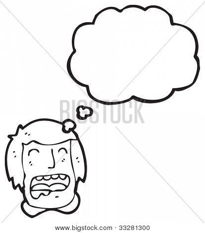 cartoon drooling man
