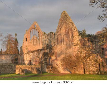 Abbey Ruins Sunset Wall Sun Good
