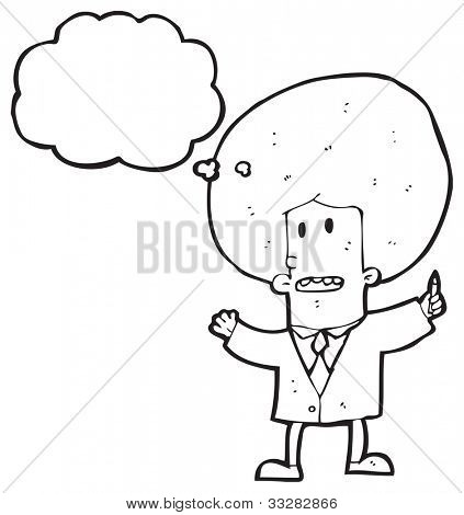 cartoon businessman with huge afro