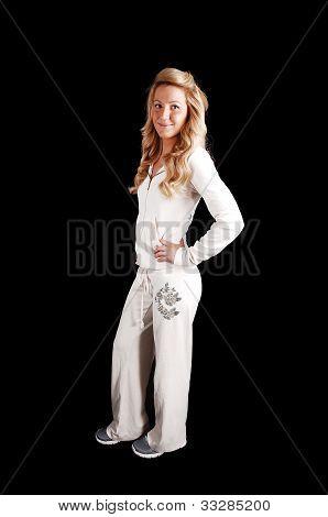 Blond Girl Standing.