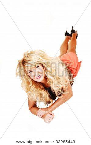 Girl Lying On Floor.
