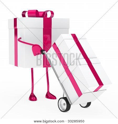 Gift Box Hold Hand Truck