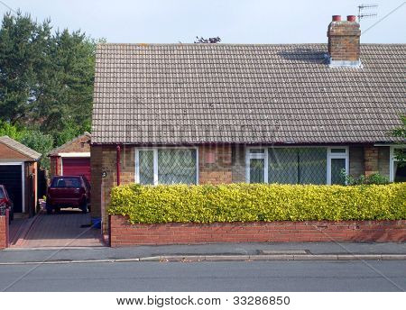 Typical English Bungalow on housing estate in Scarborough, England.
