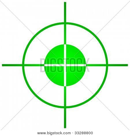 Sniper target scope or sight, isolated on white background.