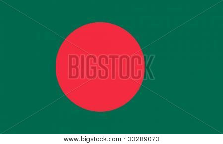 Sovereign state flag of country of Bangladesh in official colors.