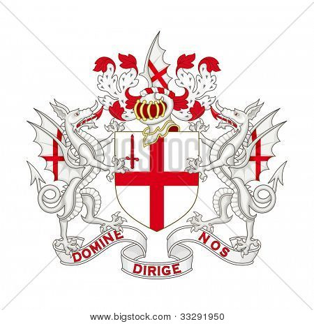 City of London coat of arms; isolated on white background.
