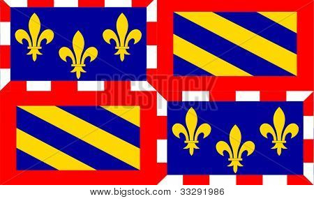 Illustration of French province of national state of Bourgogne, France.