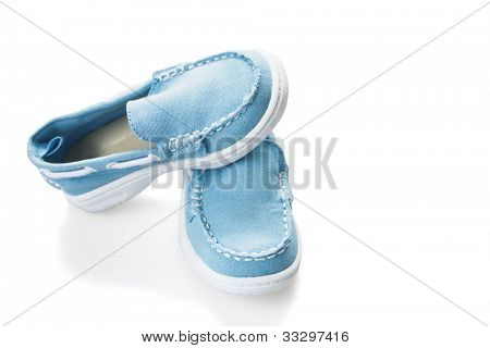 casual children's shoes on a white background