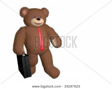 Teddy Bear Businessman