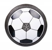 Soccer Hover Ball, Flying Toy For Kids. Isolated On White. poster