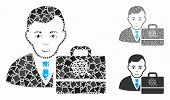 Qtum Accounter Mosaic Of Tuberous Elements In Different Sizes And Color Tones, Based On Qtum Account poster