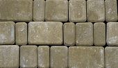 Concrete Or Cobble Gray Pavement Slabs Or Stones For Floor, Wall Or Path. Traditional Fence, Court,  poster