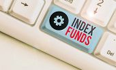 Handwriting Text Index Funds. Concept Meaning Mutual Fund Built To Match The Stocks Of A Market Inde poster