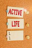 Handwriting Text Writing Active Life. Concept Meaning Way Of Life That Integrates Physical Activity  poster