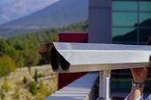 Sightseeing Scenic Binoculars With Denizli City Scene poster