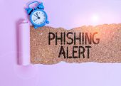Text Sign Showing Phishing Alert. Conceptual Photo Aware To Fraudulent Attempt To Obtain Sensitive I poster