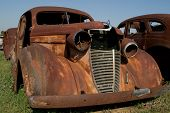 Rusty Old Junkyard Car