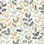 Wrapping Tea Leaves Pattern Seamless Vector. Minimal Tea Plant Bush Leaves Floral Textile Design. He poster