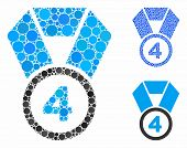 4th Place Medal Composition Of Small Circles In Various Sizes And Shades, Based On 4th Place Medal I poster