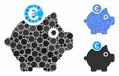 Euro Piggy Bank Composition Of Circle Elements In Variable Sizes And Color Tones, Based On Euro Pigg poster