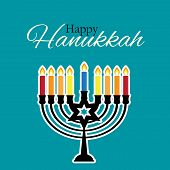 Happy Hanukkah, Jewish Holiday Background. Vector Illustration. Hanukkah Is The Name Of The Jewish H poster