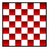 pic of draught-board  - Re and white patterned checkers of draughts board - JPG