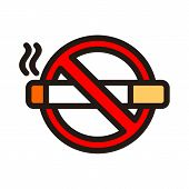 No Smoking Icon Isolated On White Background From Airport Collection. No Smoking Icon Trendy And Mod poster