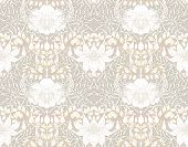 Floral Seamless Pattern, Background With In Art Nouveau Style, Vintage, Old, Retro Style. Colored Ve poster