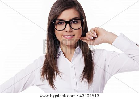 Confident and fashion businesswoman