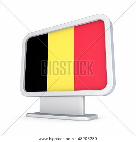 Belgian flag in a lightbox.