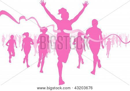 Women Running And Winning