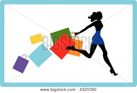 Girl On Shopping