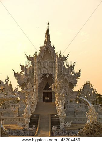 Decoration Of Buddhist Monastery, Wat Rong Khun At Chiang Rai, Thailand