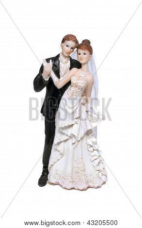 Wedding Cake Bride And Groom Figurine