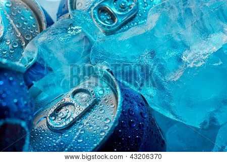 Ice Cubes And Cans