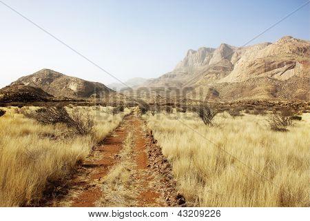 Steppe Erongo Mountains Namibia