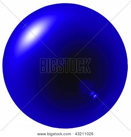 Glare Dark Blue Ball
