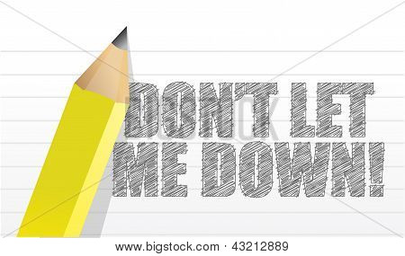 Don't Let Me Down, Message Written