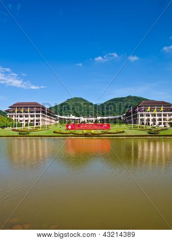 Entrance View Of Mae Fah Luang University, Chiang Rai, Thailand