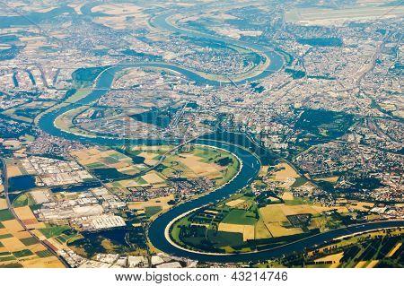 Aerial Photo Of The Rhine