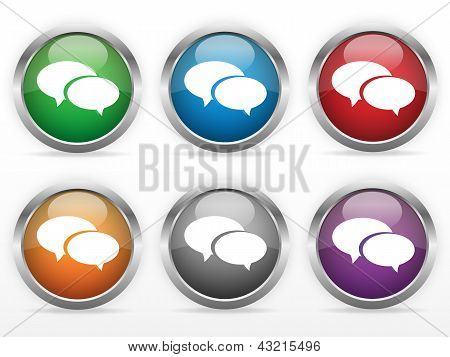 Chat web buttons