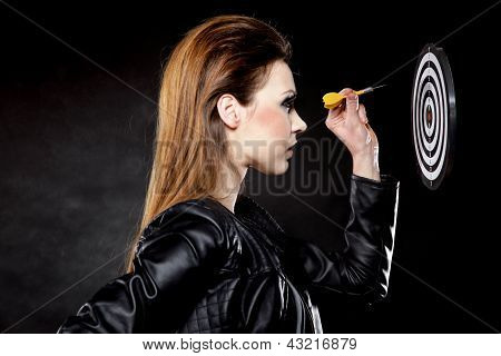 Punk Girl With Dart And Target