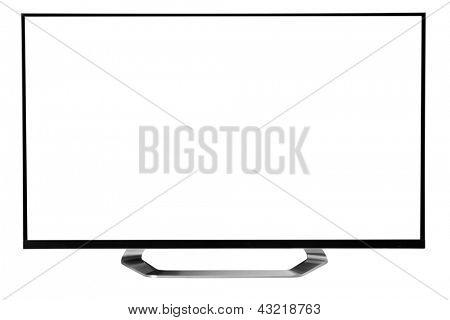 Led Tv. against white background.